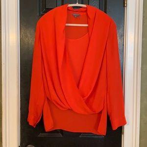 🧡VINCE CAMUTO orange blouse since M 🧡